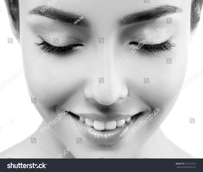 Woman Eyes Closeup Black White Stock Photo 515513512