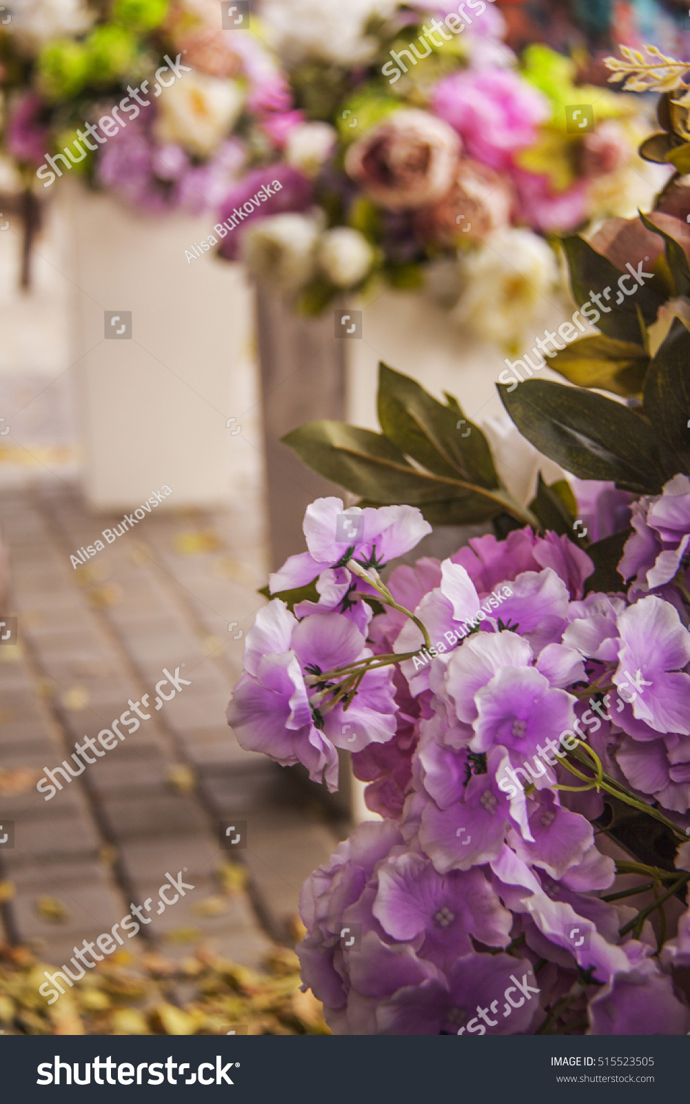 Composition Fresh Beautiful Flowers Stock Photo Edit Now 515523505