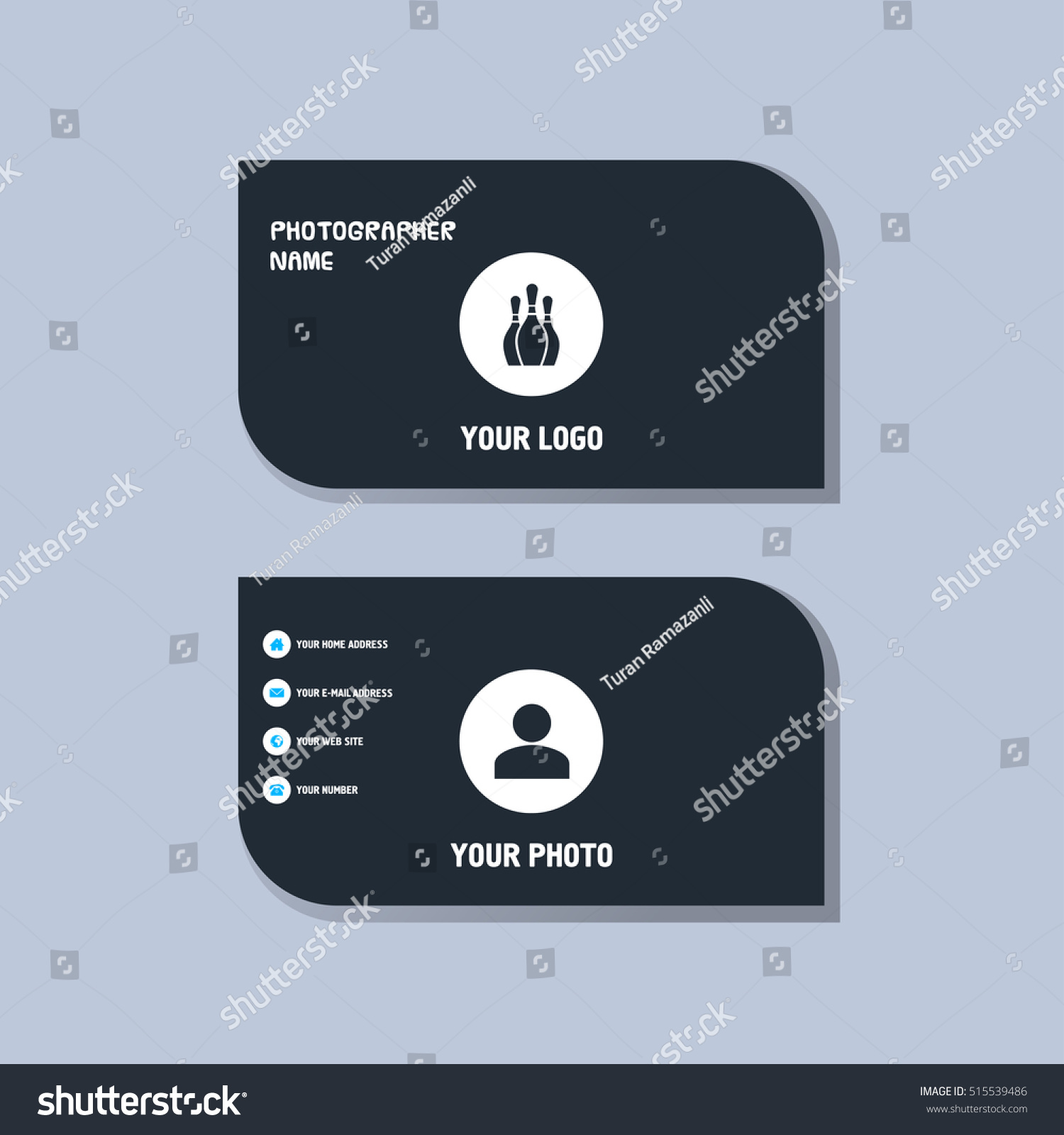 Bowling business card stock vector 515539486 shutterstock bowling business card reheart Gallery