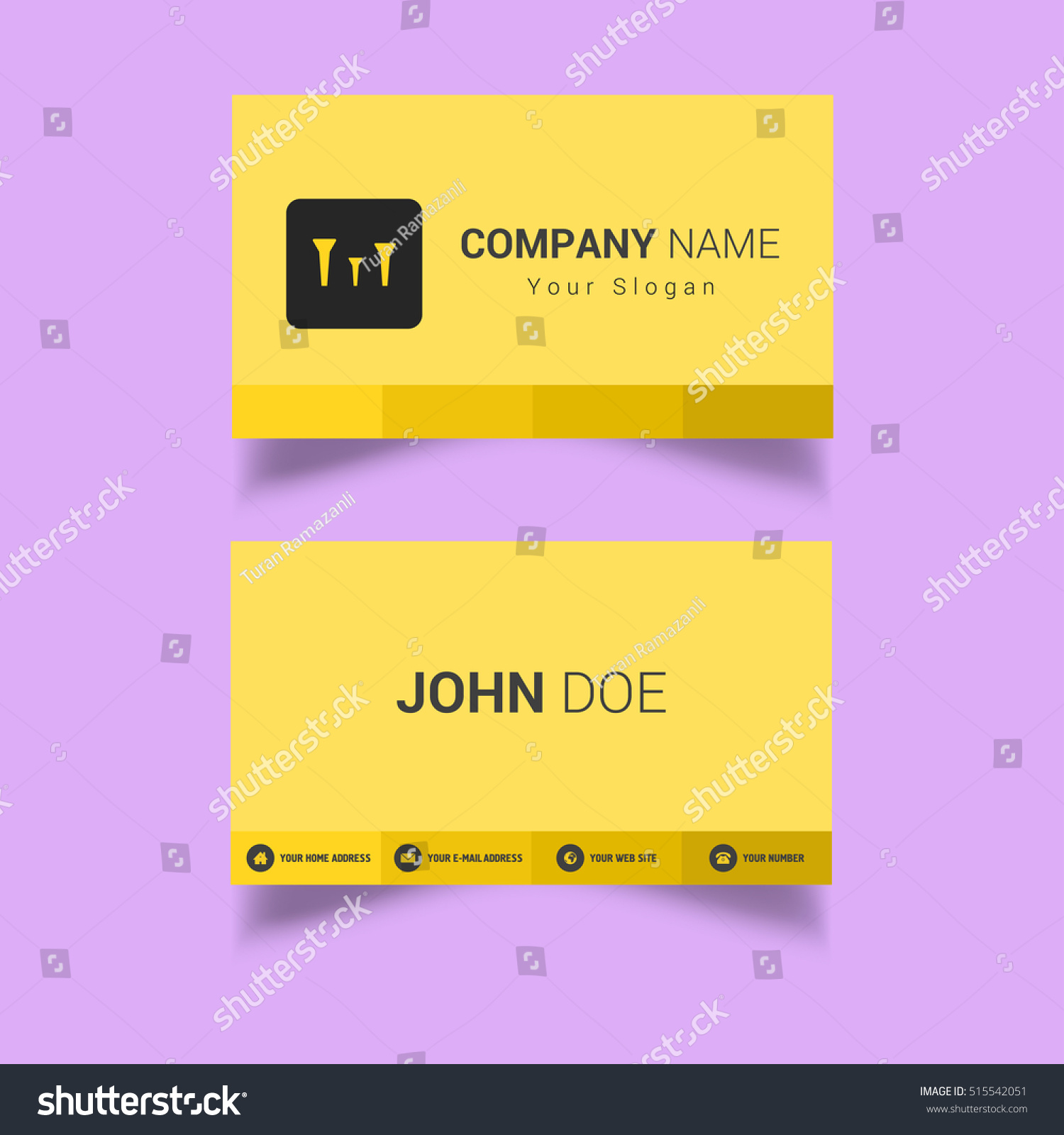 Golf Business Card Stock Vector 515542051 - Shutterstock