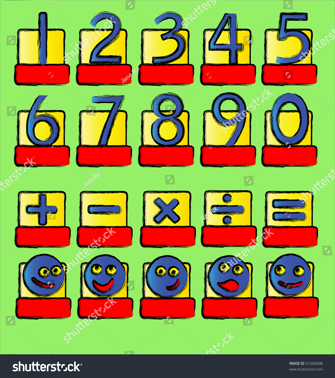 Vector illustration numbers mathematical symbols smilies stock a vector illustration of numbers and mathematical symbols and smilies a complete alphabet also available biocorpaavc Gallery