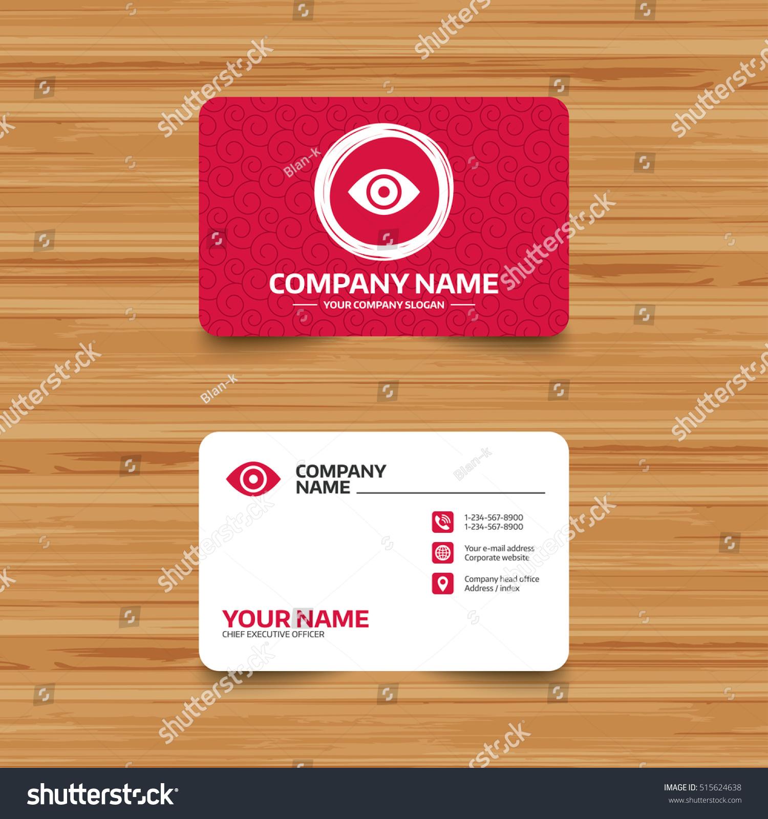 Business Card Template Texture Eye Sign Stock Vector 515624638 ...