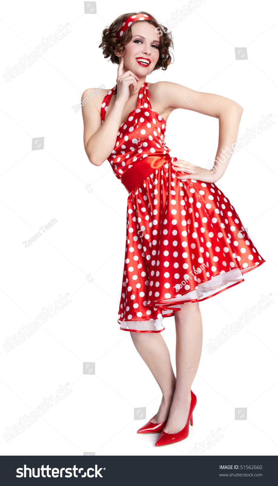 pinup girl american style stock photo 51562660 shutterstock. Black Bedroom Furniture Sets. Home Design Ideas