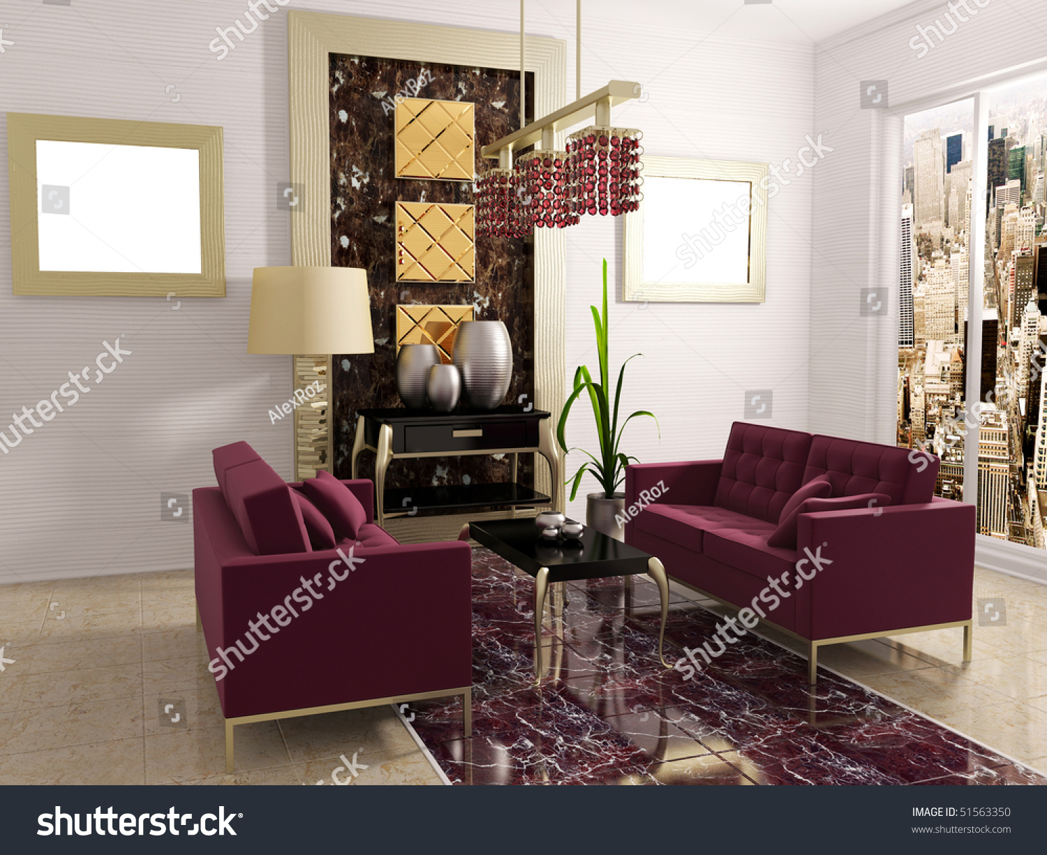 modern luxury room with classic furniture. modern luxury room classic furniture stock illustration
