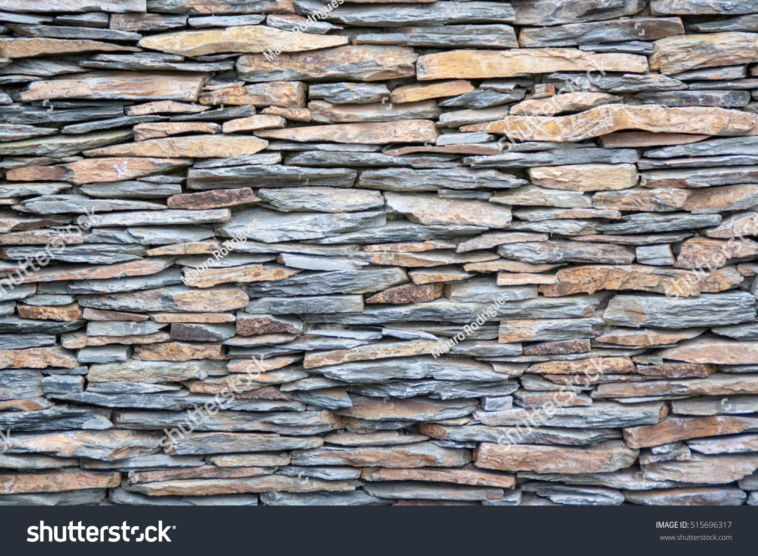 Schist Stones On House Piled Forming Stock Photo 515696317