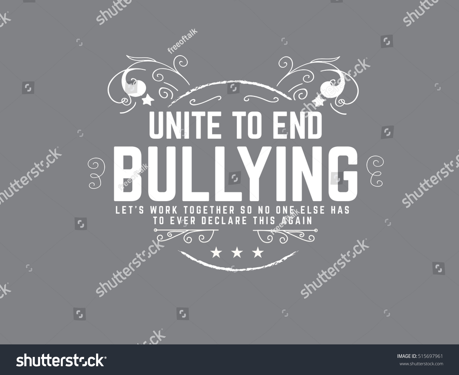 Bullying Quote Bullying Quote Stock Vector 515697961  Shutterstock