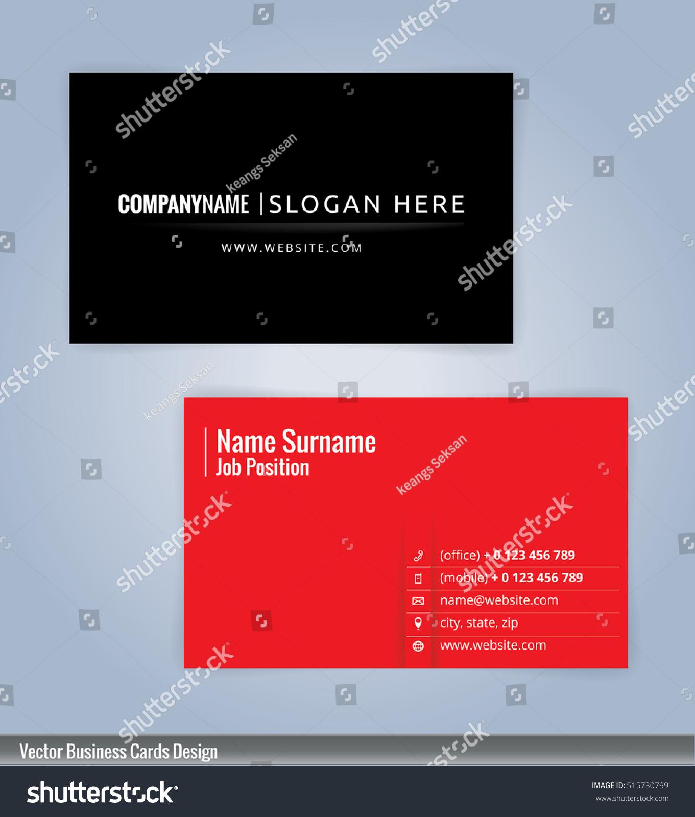 Modern creative clean business card design stock vector 515730799 modern creative clean business card design stock vector 515730799 shutterstock pronofoot35fo Gallery