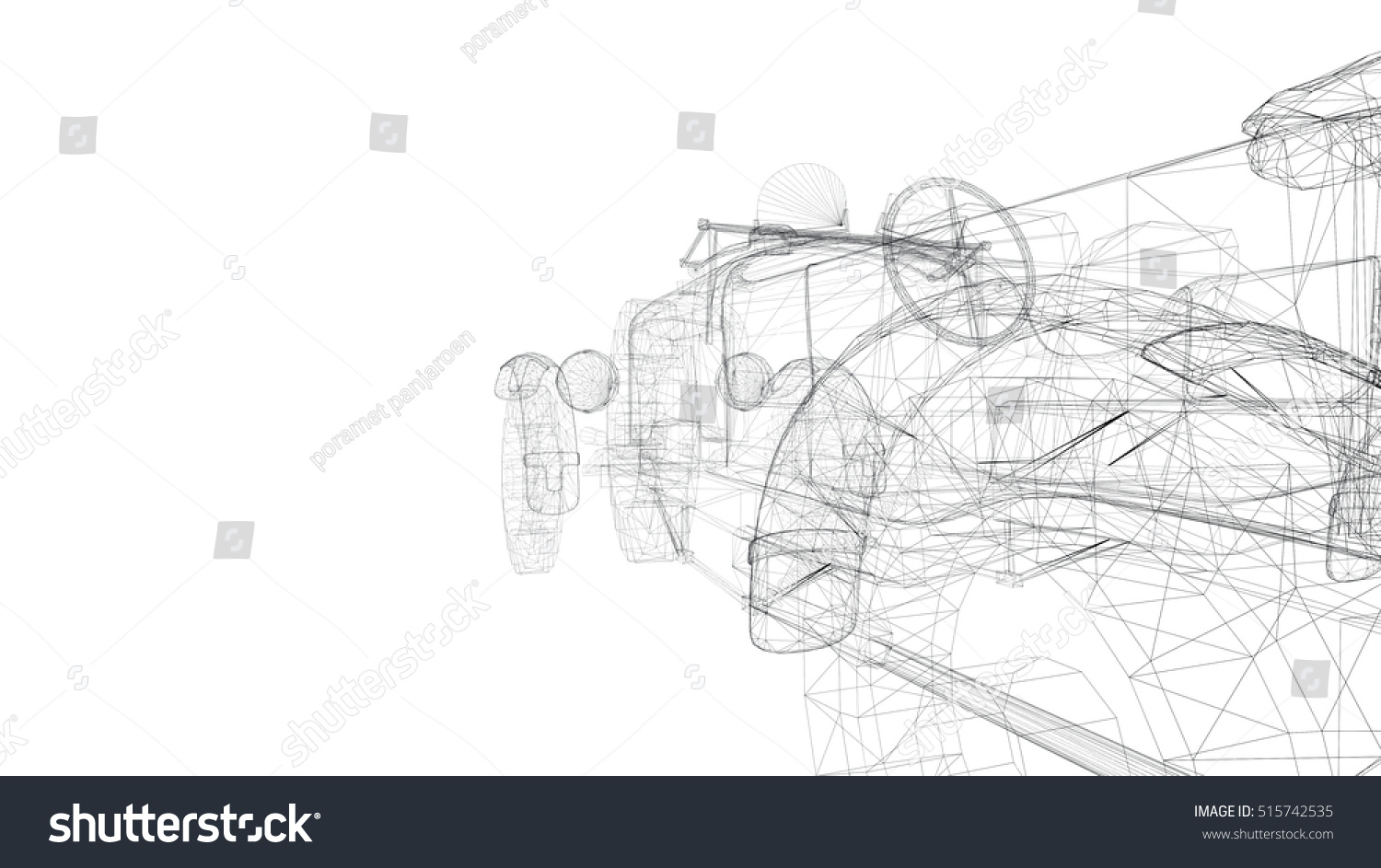 Car Old Model Body Structure Wire Stock Illustration 515742535 ...