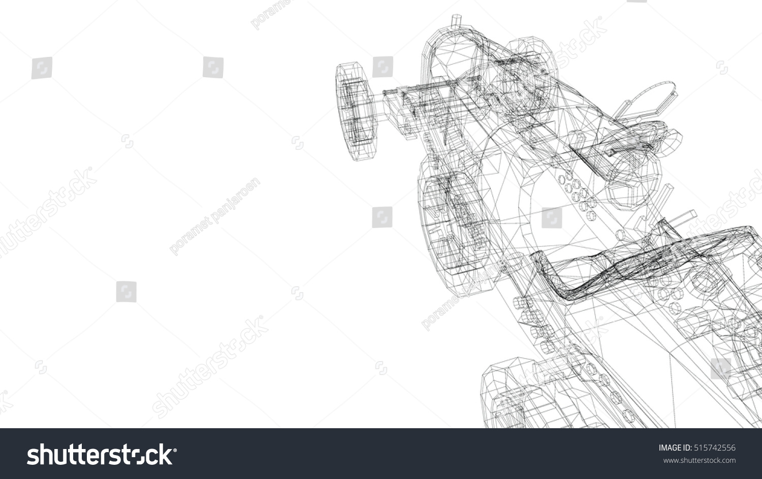 Car Old Model Body Structure Wire Stock Illustration 515742556 ...