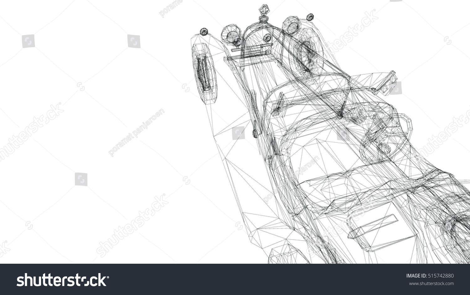 Car Old Model Body Structure Wire Stock Illustration 515742880 ...