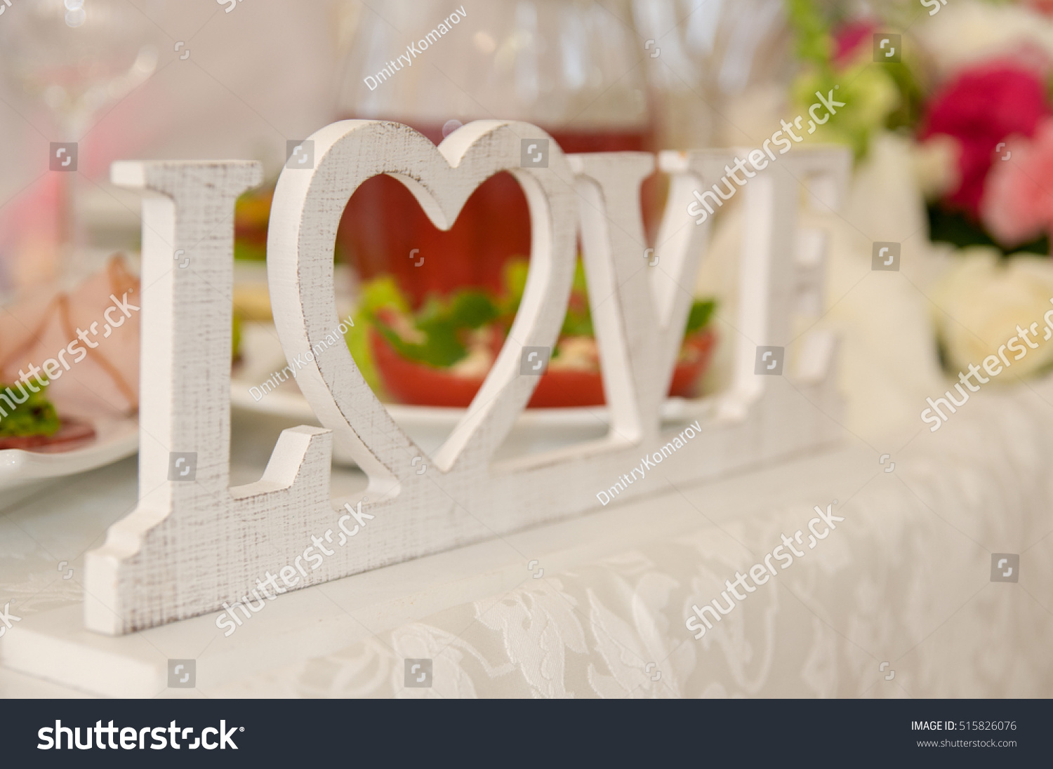 Love Letter Wedding Decorations Stock Photo Edit Now 515826076