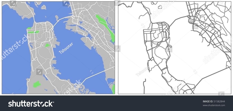 Royaltyfree Vector map of San Francisco 51582844 Stock Photo