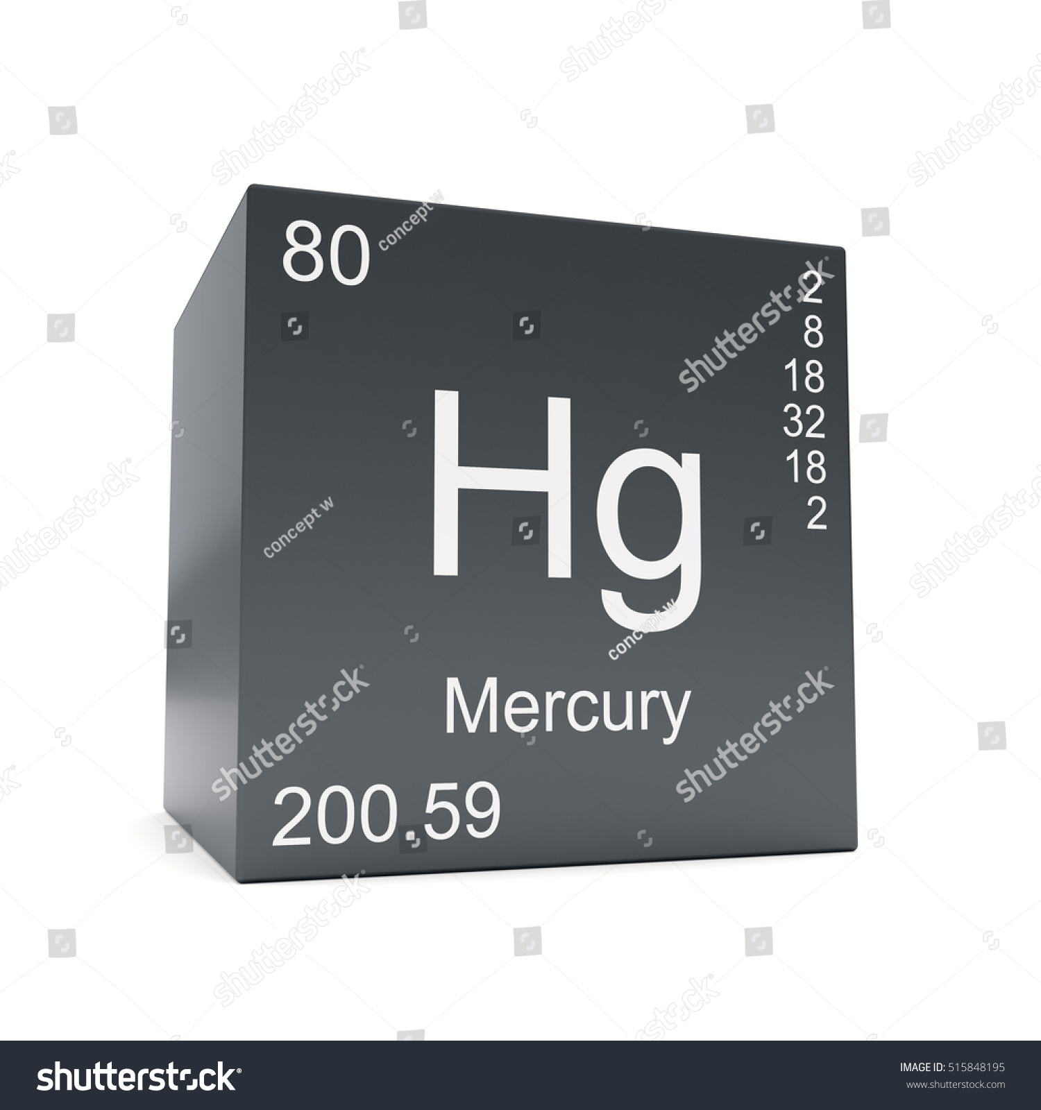 Mercury chemical element symbol periodic table stock illustration mercury chemical element symbol from the periodic table displayed on black cube 3d render gamestrikefo Images