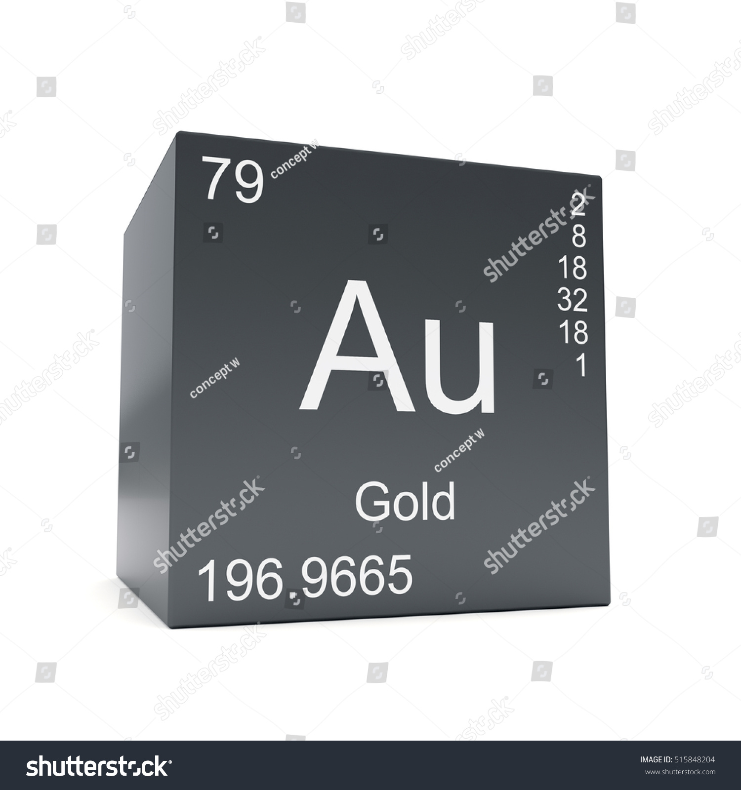 Gold chemical element symbol periodic table stock illustration gold chemical element symbol from the periodic table displayed on black cube 3d render gamestrikefo Image collections