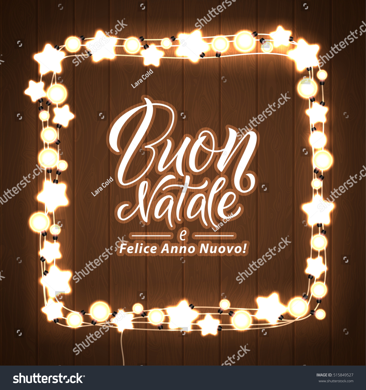 Merry christmas happy new year italian stock vector 515849527 merry christmas and happy new year italian language glowing christmas lights wreath for xmas kristyandbryce Gallery
