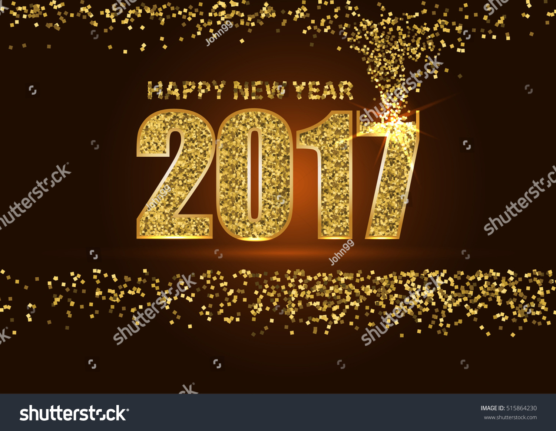 gold glitter new year border