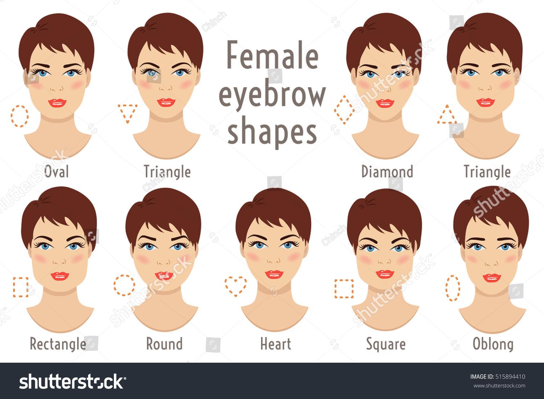 Set Vector Eyebrow Shapes Eyebrows That Stock Vector Royalty Free