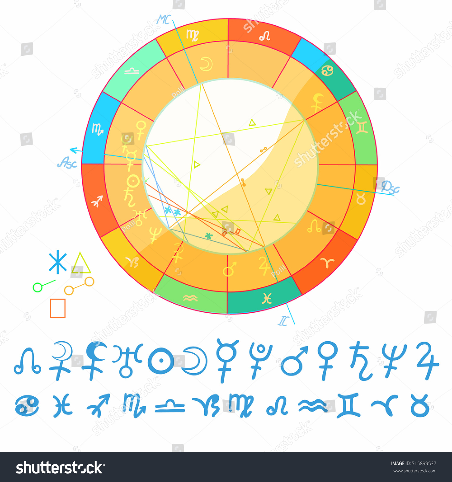 Natal astrological chart zodiac signs vector stock vector natal astrological chart zodiac signs vector illustration nvjuhfo Image collections