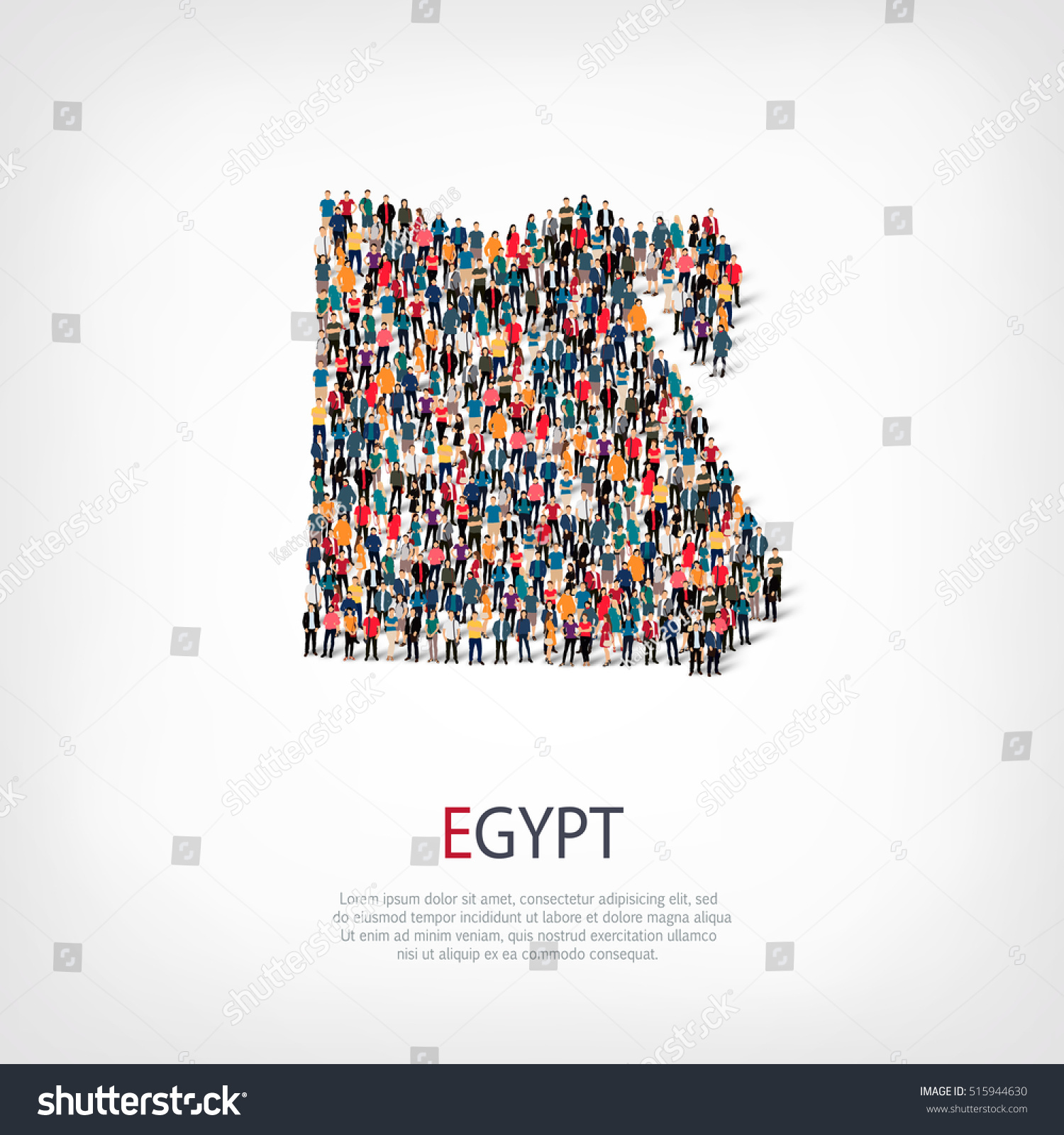 People Map Country Egypt Vector Stock Vector Shutterstock - Map of egypt vector free