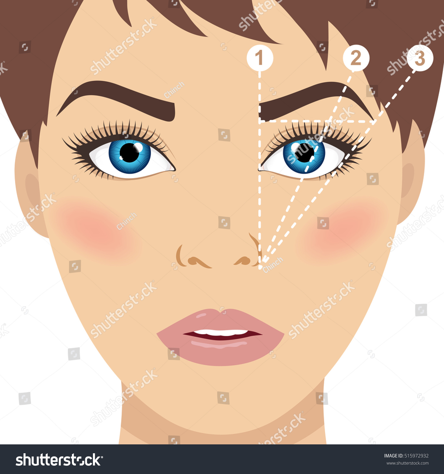 Face Eyebrow Mapping How Shape Your Stock Vector Royalty Free