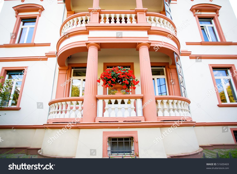 Beautiful european house with balcony stock photo 51600469 - Beautiful houses with balcony ...