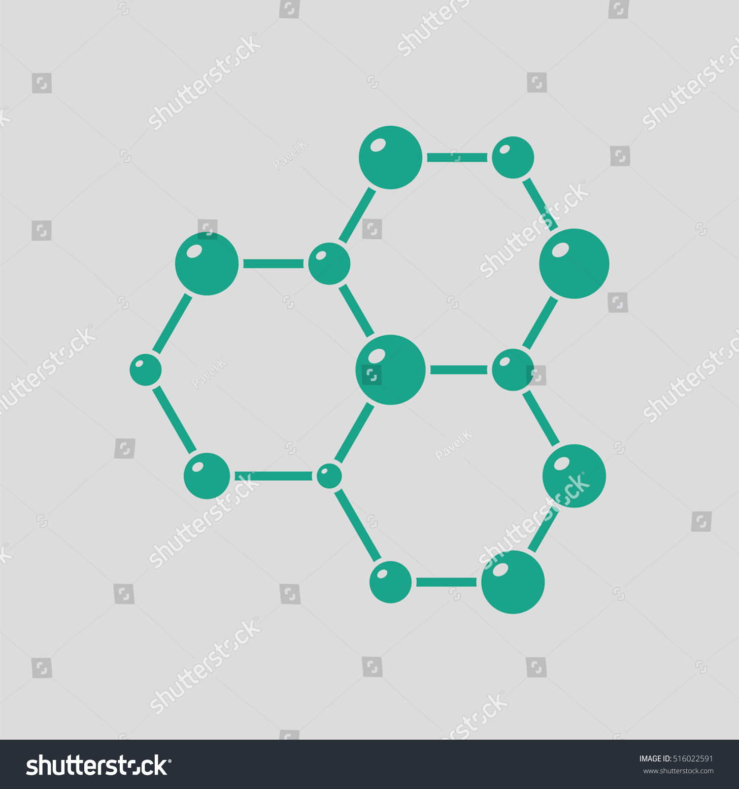 Icon chemistry hexa connection atoms gray stock vector 516022591 icon of chemistry hexa connection of atoms gray background with green vector illustration ccuart Images