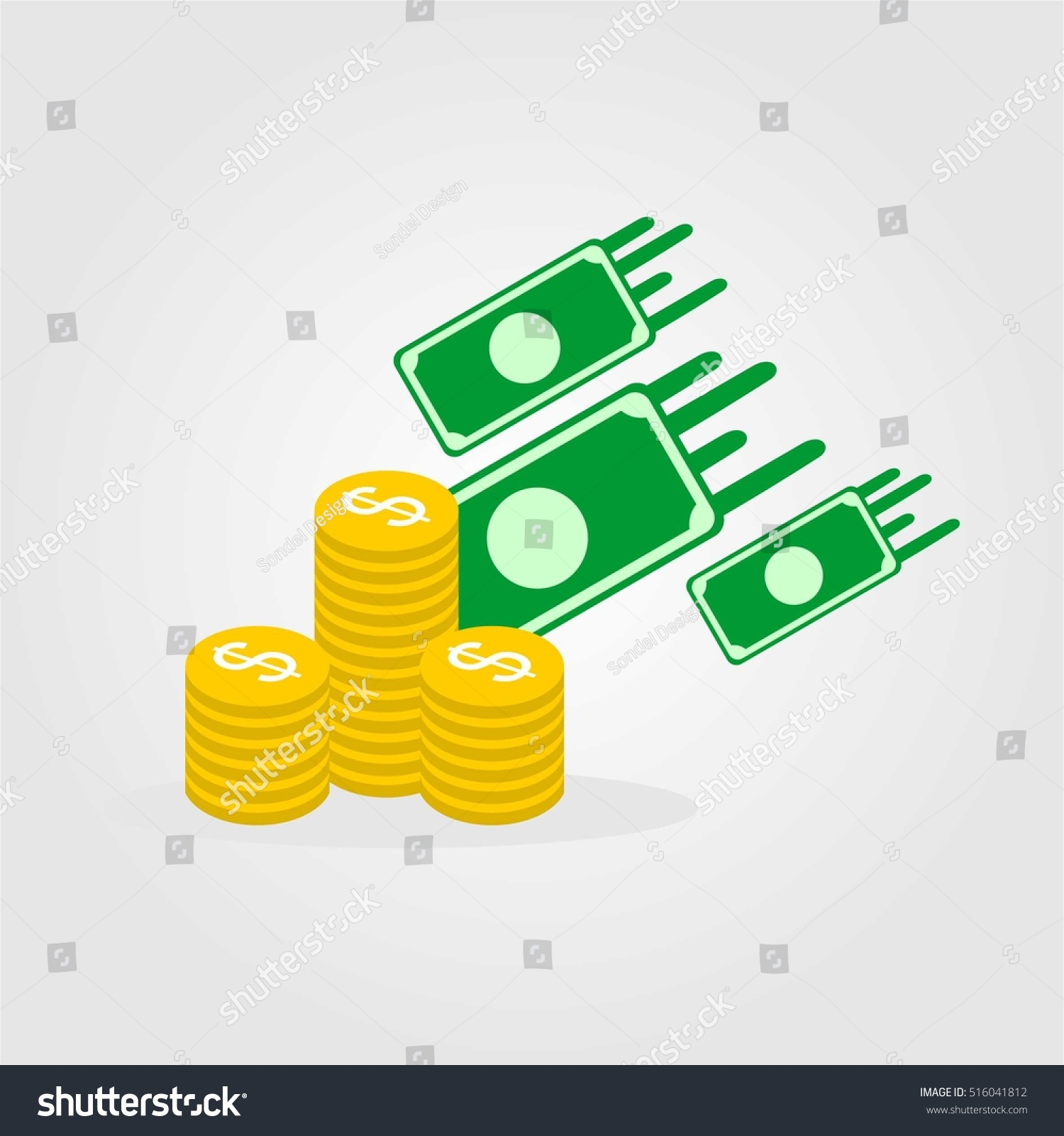 Finance Sign: Money Business Finance Company Logo Template Stock Vector