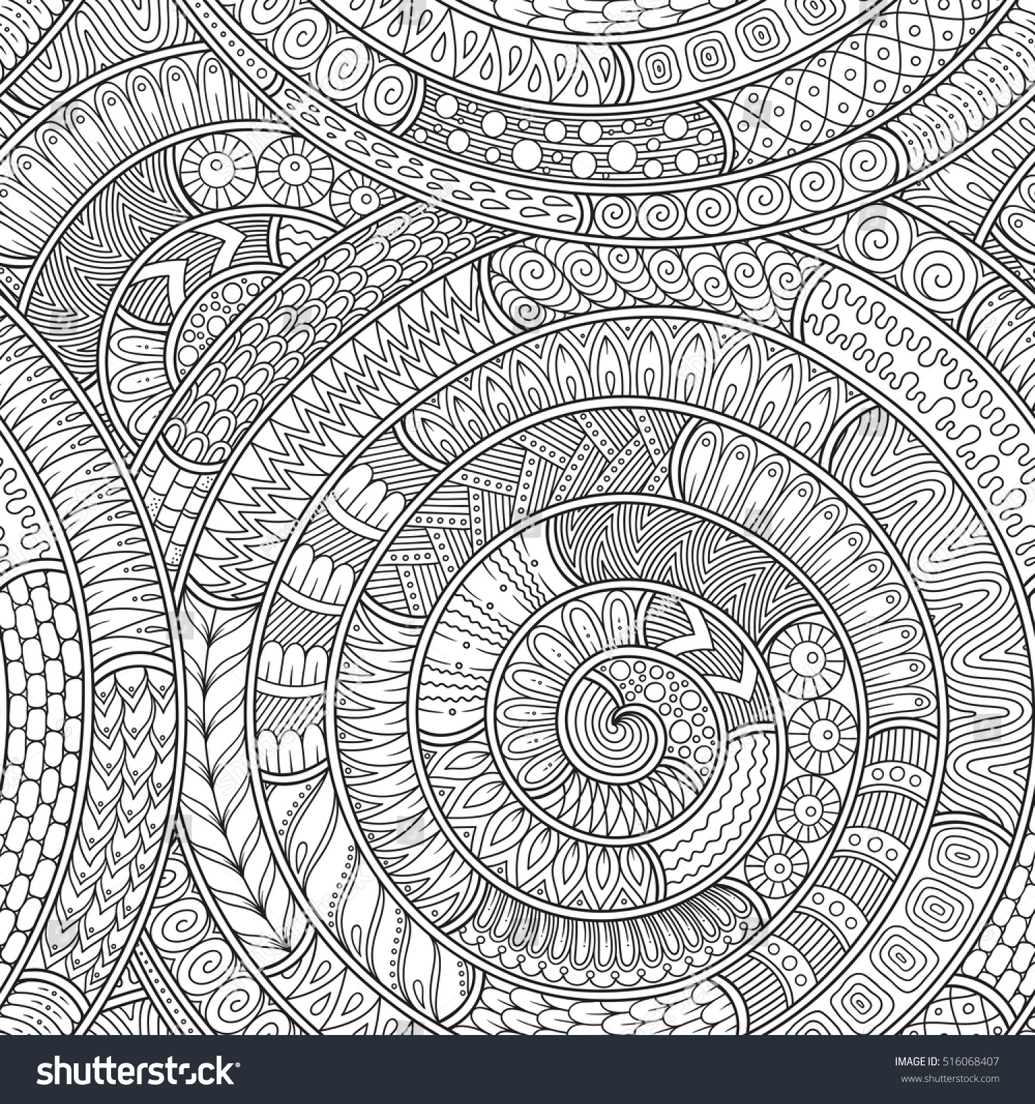 Doodle background in vector with doodles flowers and paisley Vector ethnic pattern can be
