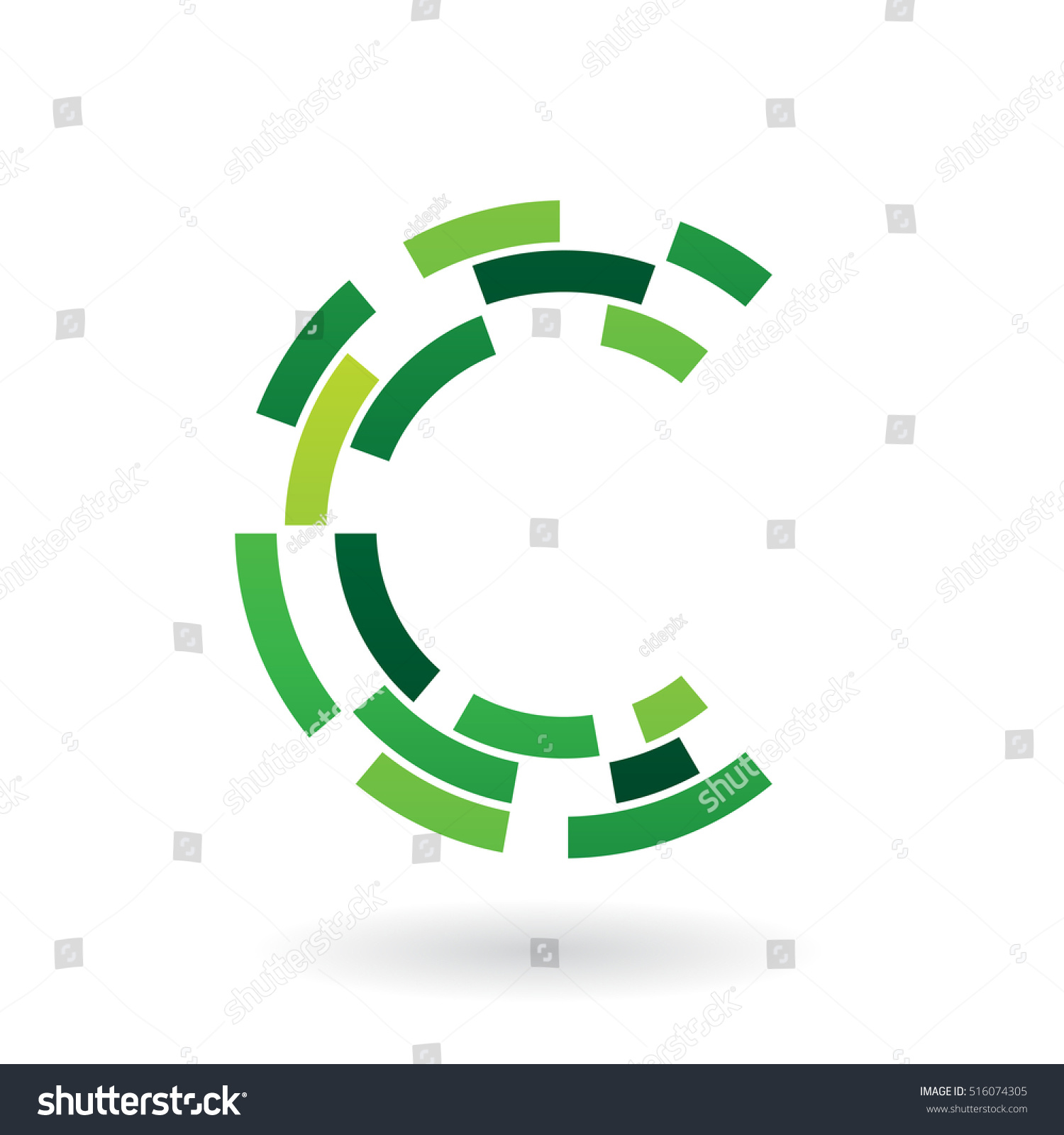 Design Concept Abstract Icon Letter C Stock Vector