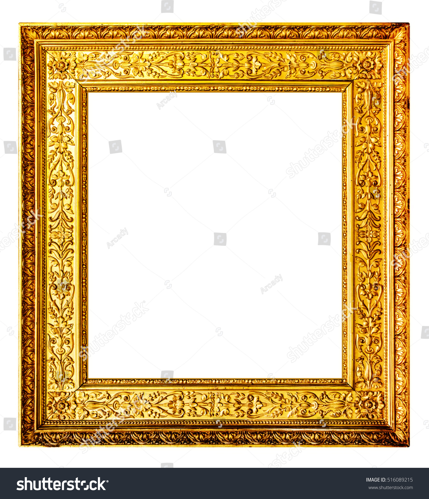 Old Gold Frame Photo Isolated On Stockfoto (Jetzt bearbeiten ...