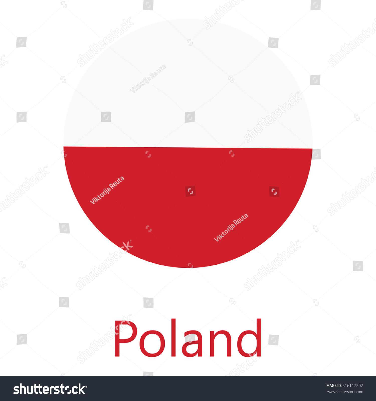 round poland flag vector icon isolated stock vector 516117202