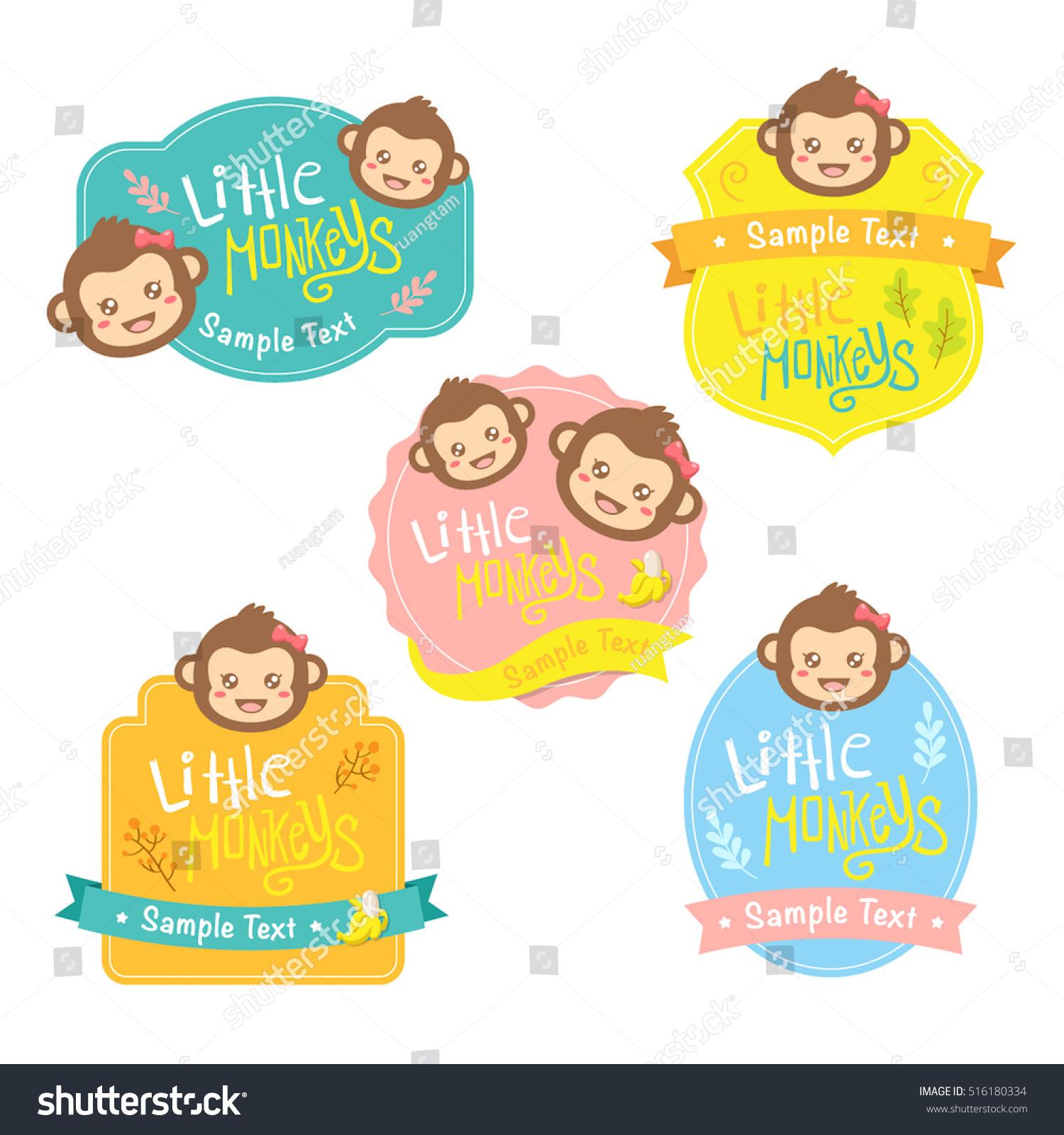 Little Monkeys Stock Vector Royalty Free 516180334