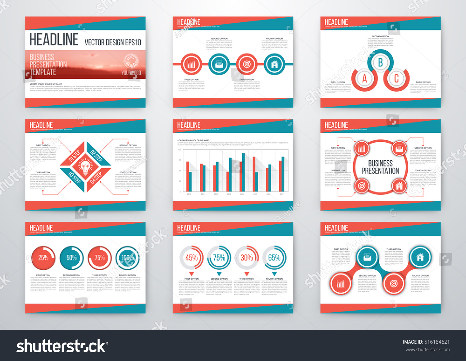 Book Cover Design Elements : Set of infographic elements presentation template book