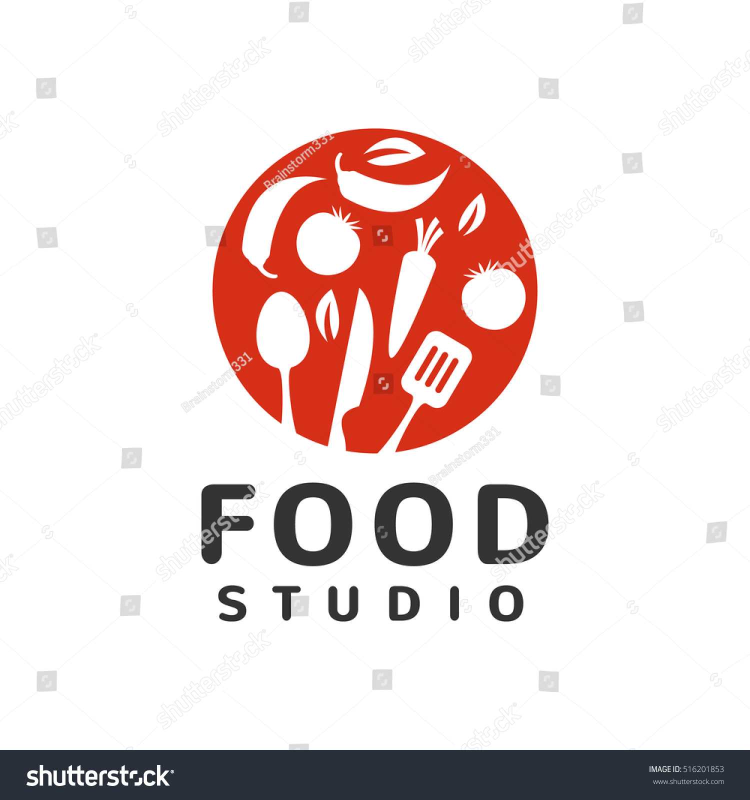 Restaurant Kitchen Toolste food studio logo kitchen tools food stock vector 516201853