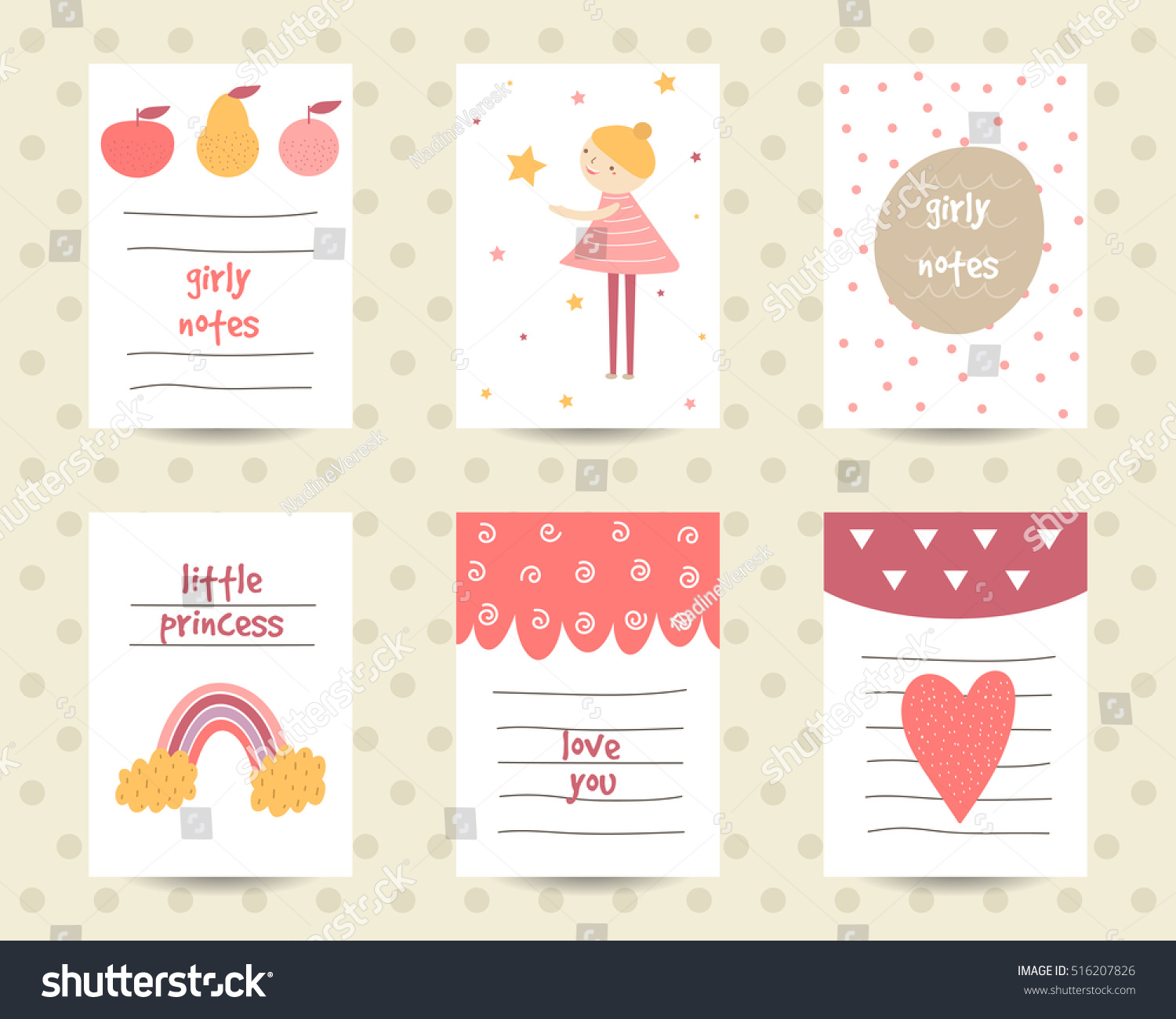 cute note pages do list flashcards stock vector royalty free