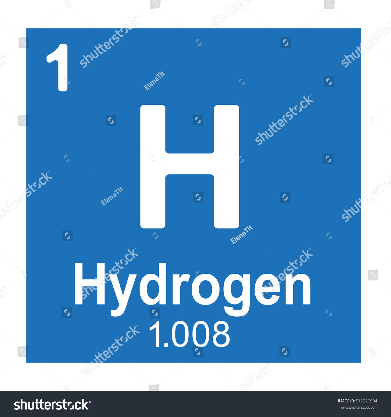 Hydrogen element vector icon periodic table stock vector 516220504 hydrogen element vector icon periodic table element gamestrikefo Choice Image