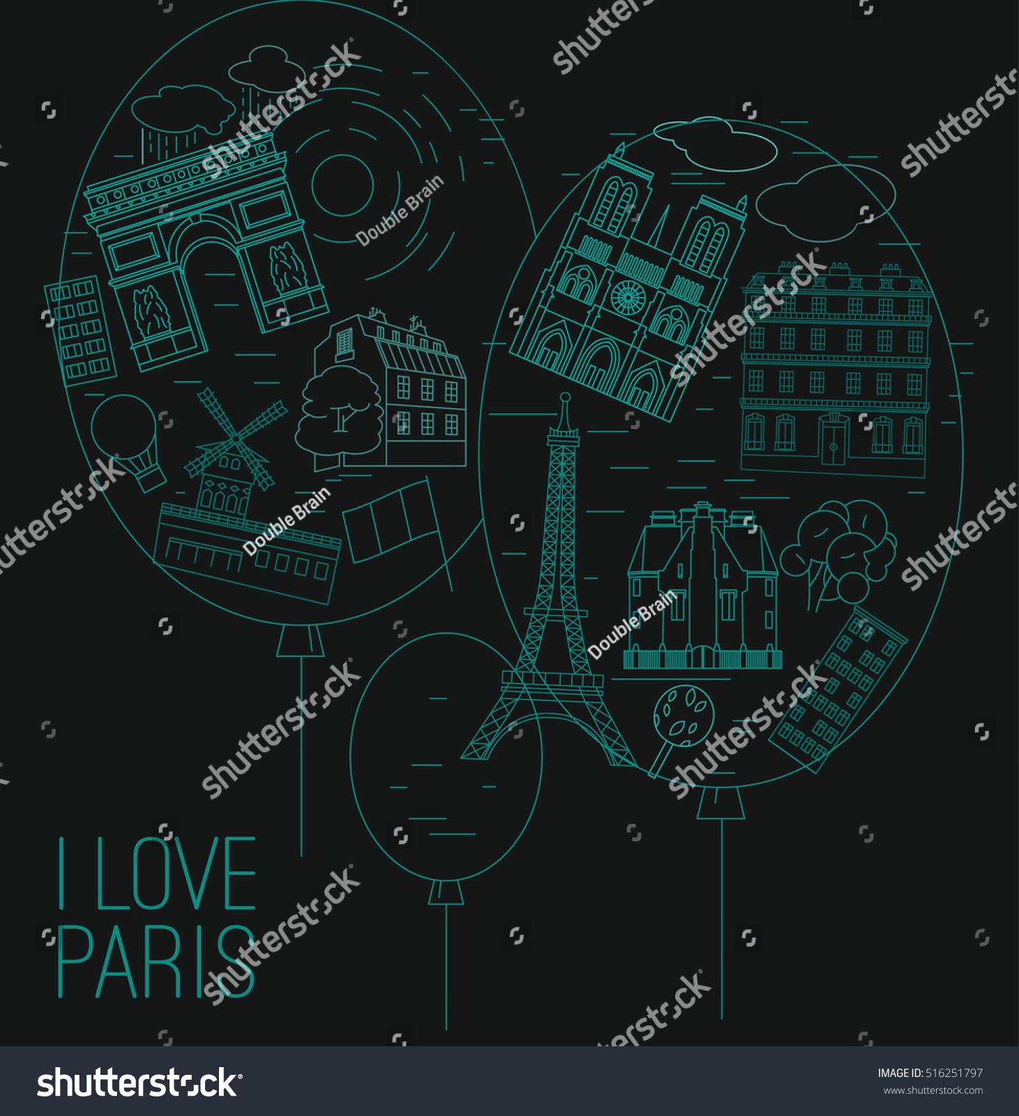 I love Paris creative concept Stylish vector