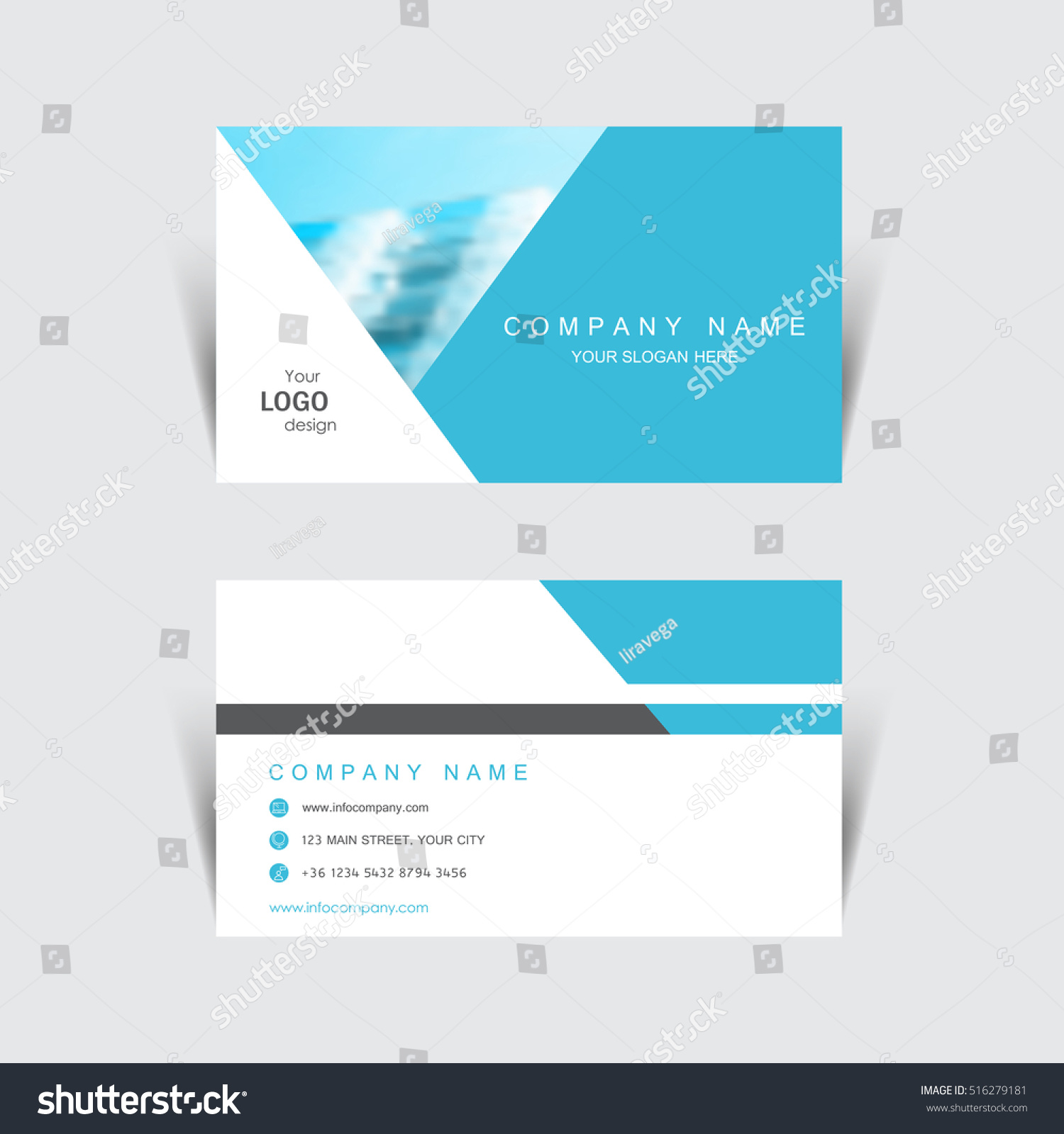Business Card Print Template Design Vector Stock Vector