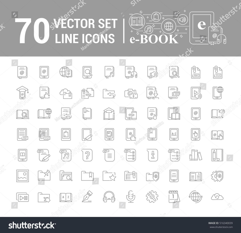 Vector Graphic Setlogo Icon Ebook Pocket Stock Vector 516340039 ...
