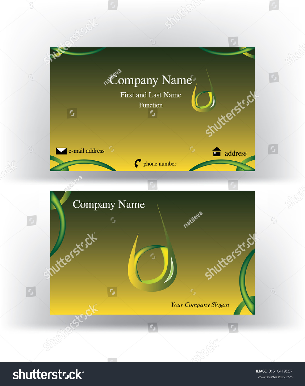 Business Card Drop Shape Logo Holding Stock Vector 516419557 ...
