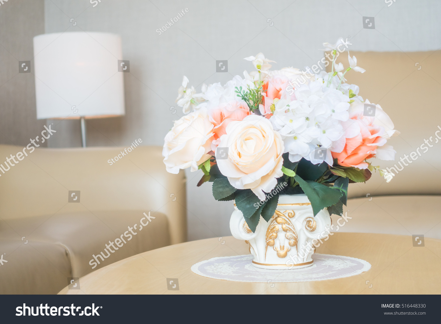 Beautiful flower vase on table decoration stock photo 516448330 beautiful flower vase on table decoration in living room area interior izmirmasajfo