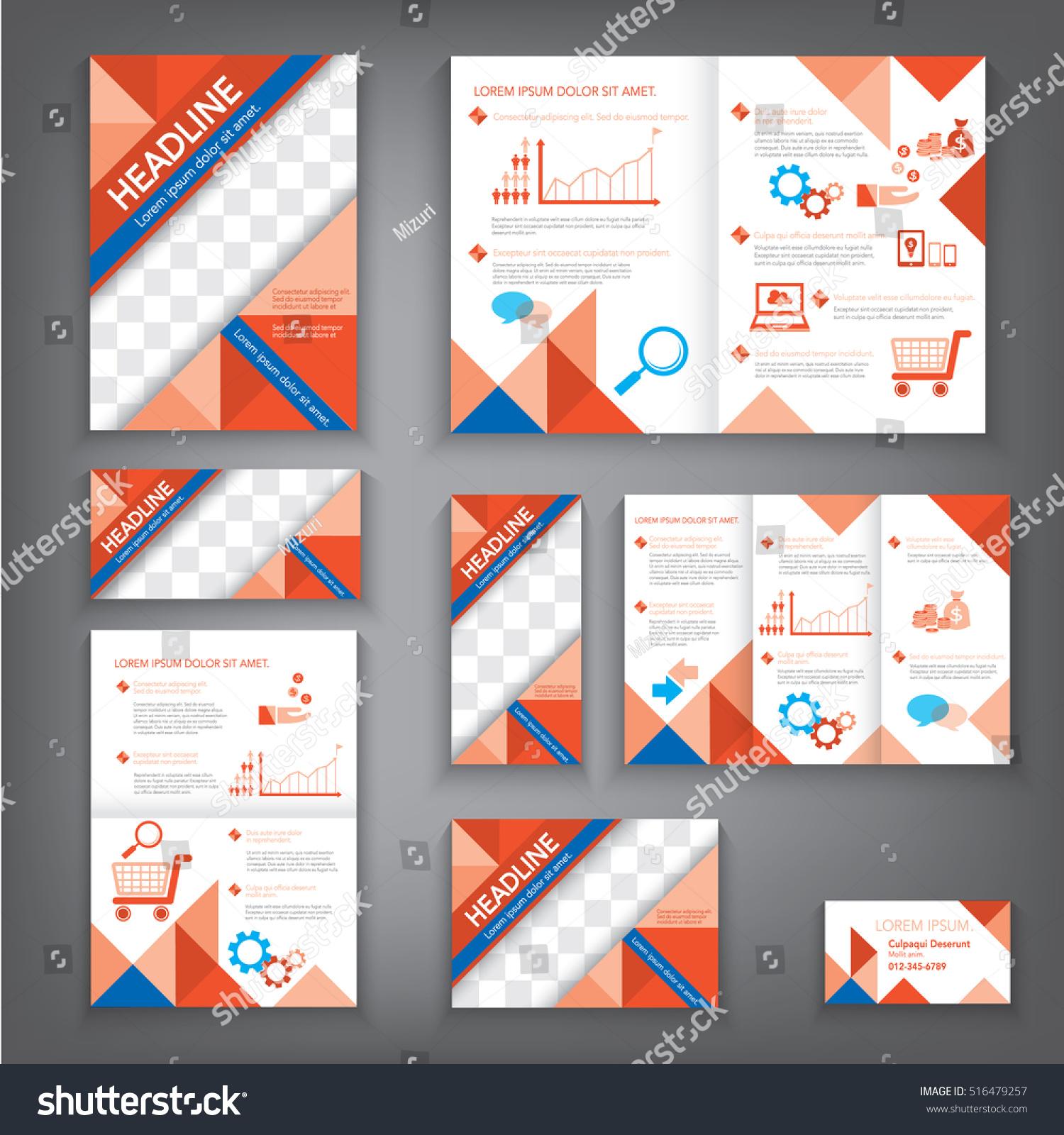 Design Abstract Vector Brochure Template Flyer Stock Vector Royalty