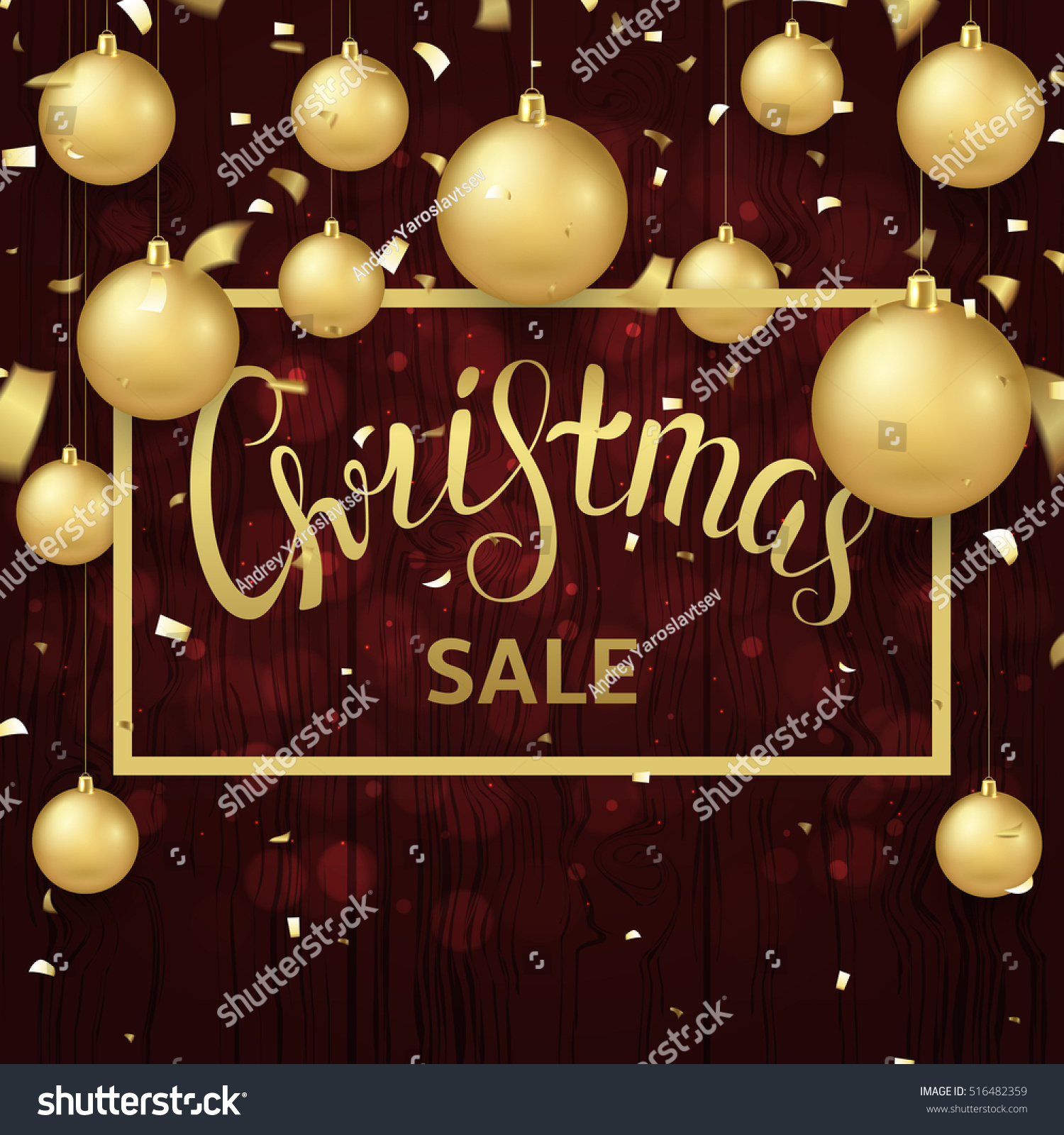 christmas sale banner template seasonal discount stock vector