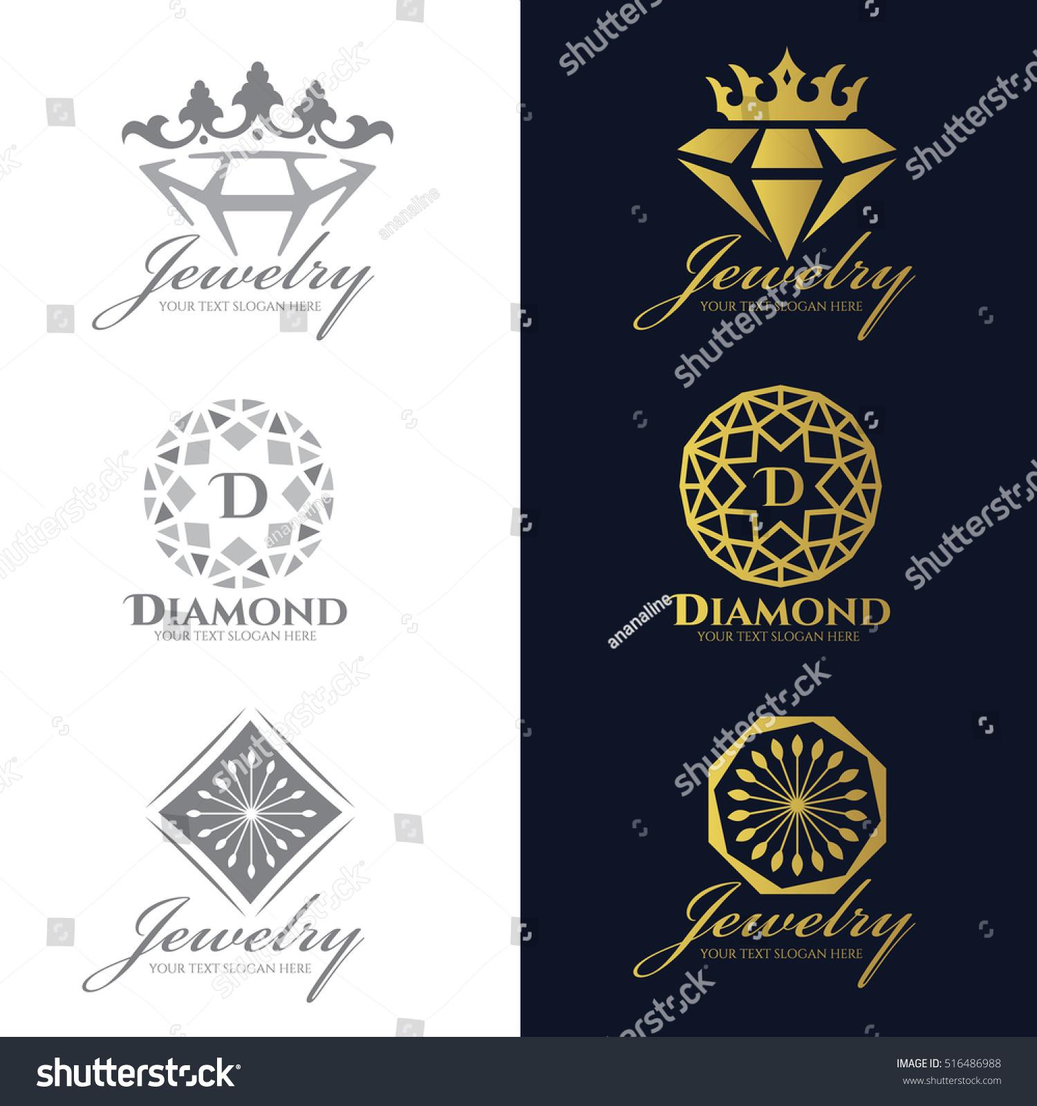 684e4d768ca3 Jewelry Logo Crown Diamond Flower Vector Stock Vector (Royalty Free .