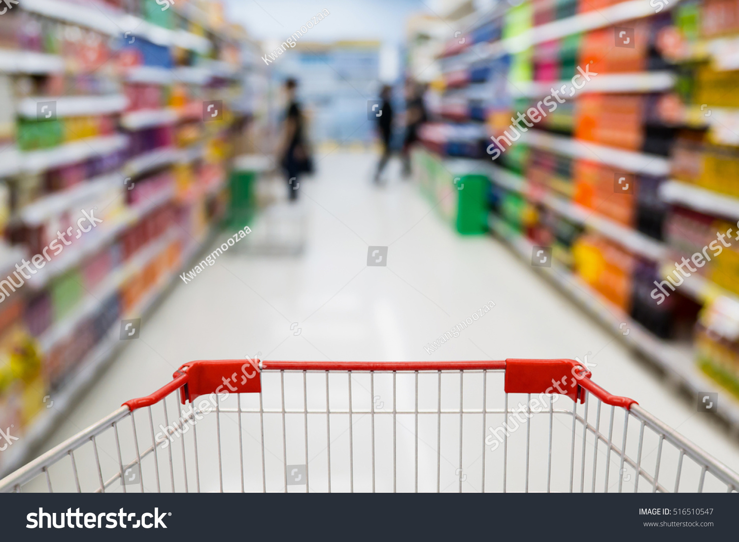 Beverages In The Supermarket Aisle