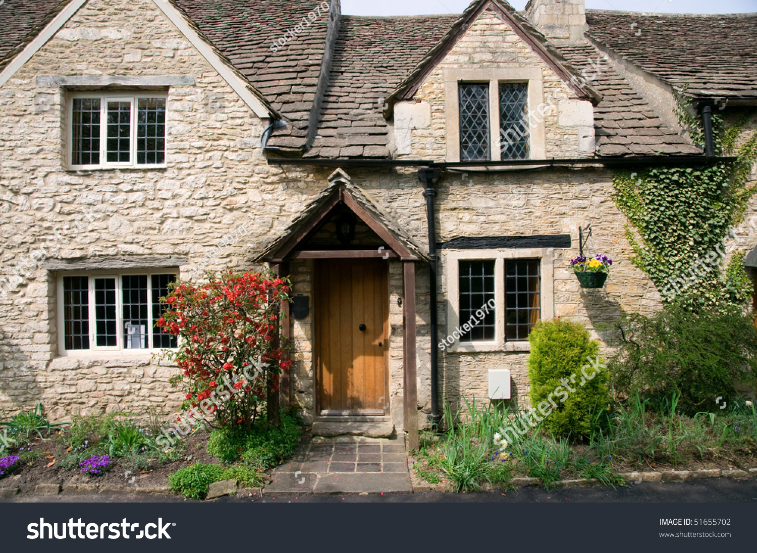 small english cottages cottage facade stock photo 51655702 14936