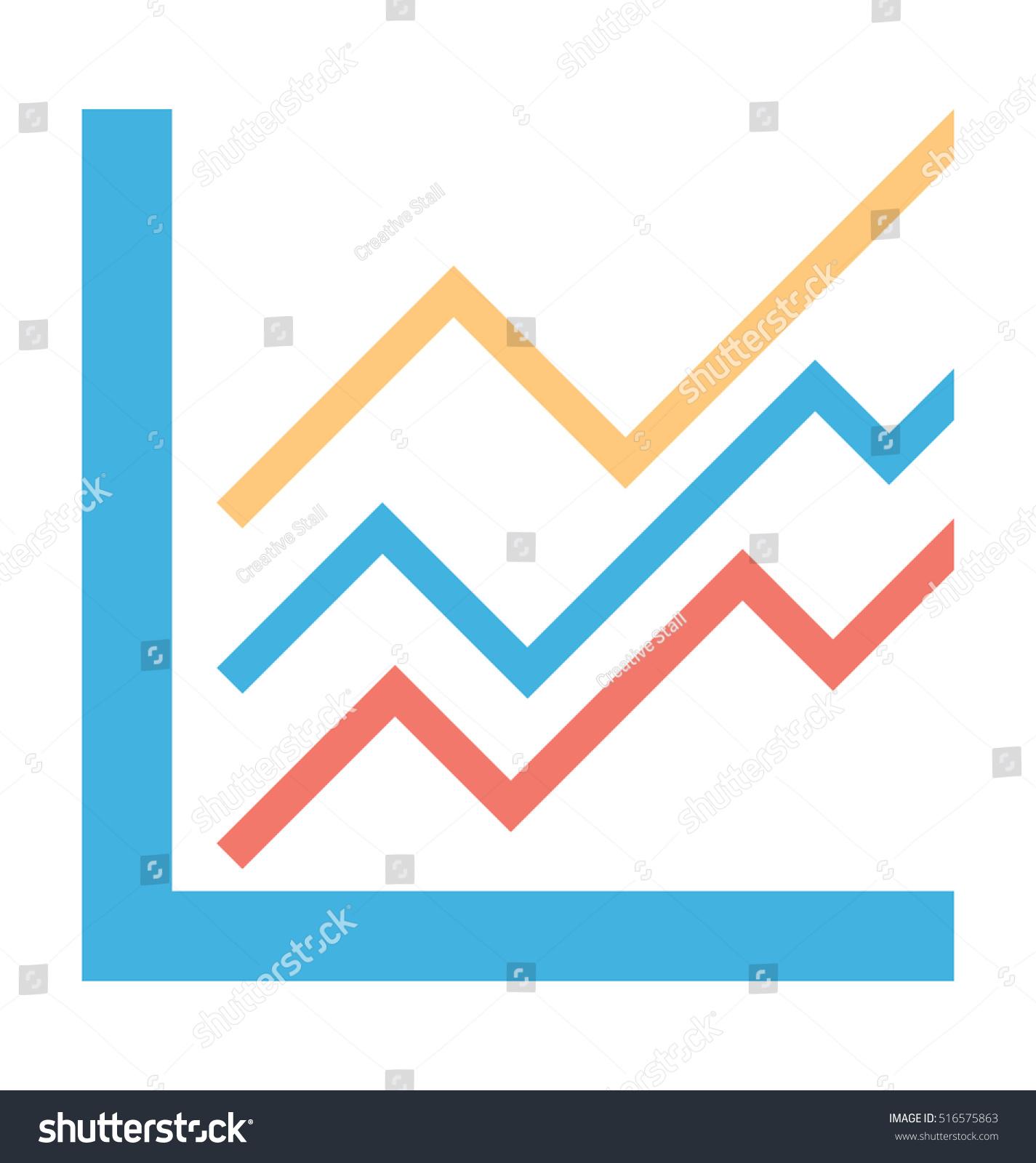 line graph vector icon stock vector (royalty free) 516575863