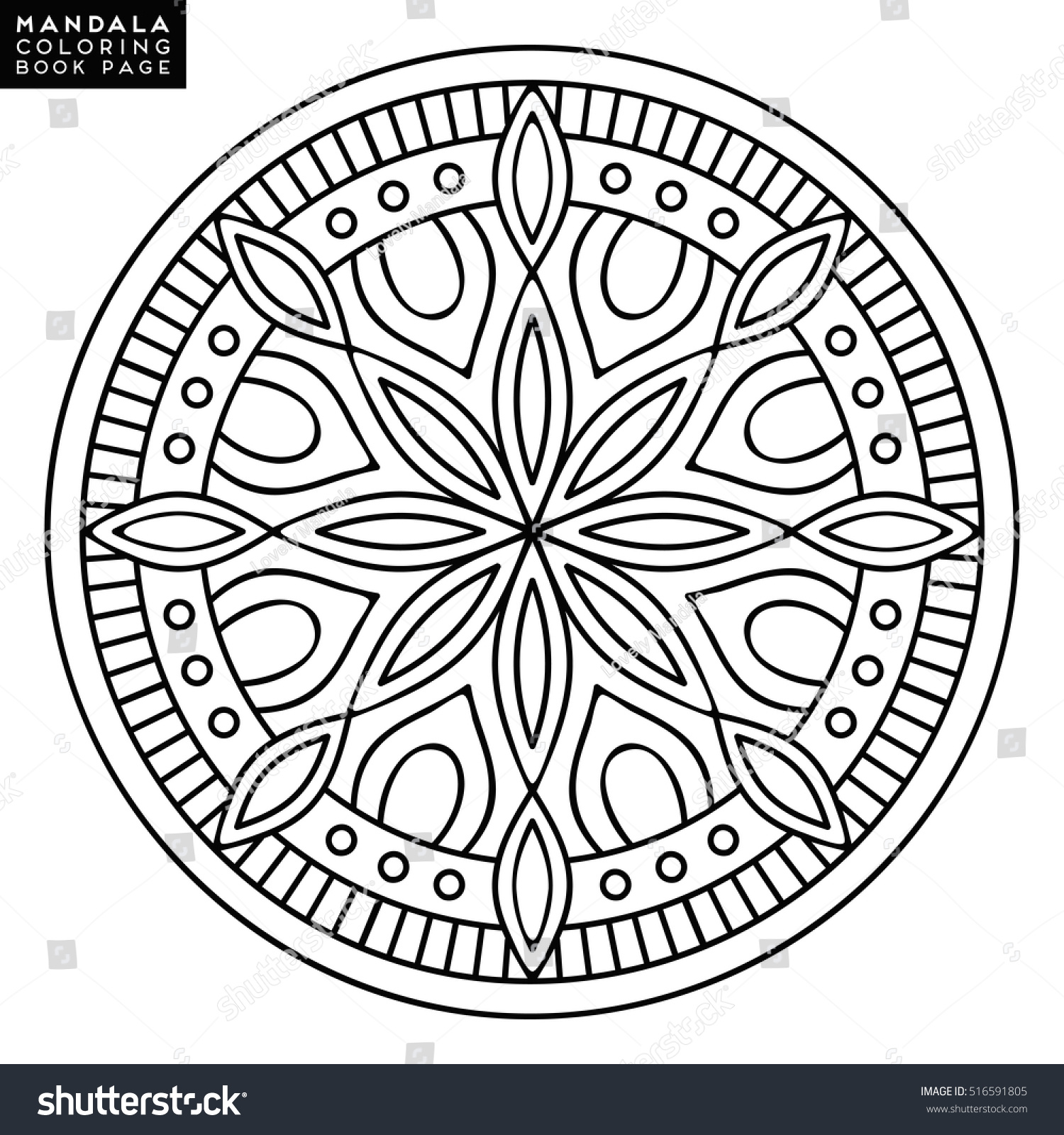 Flower Mandala Vintage Decorative Elements Oriental Stock Vector 516591805