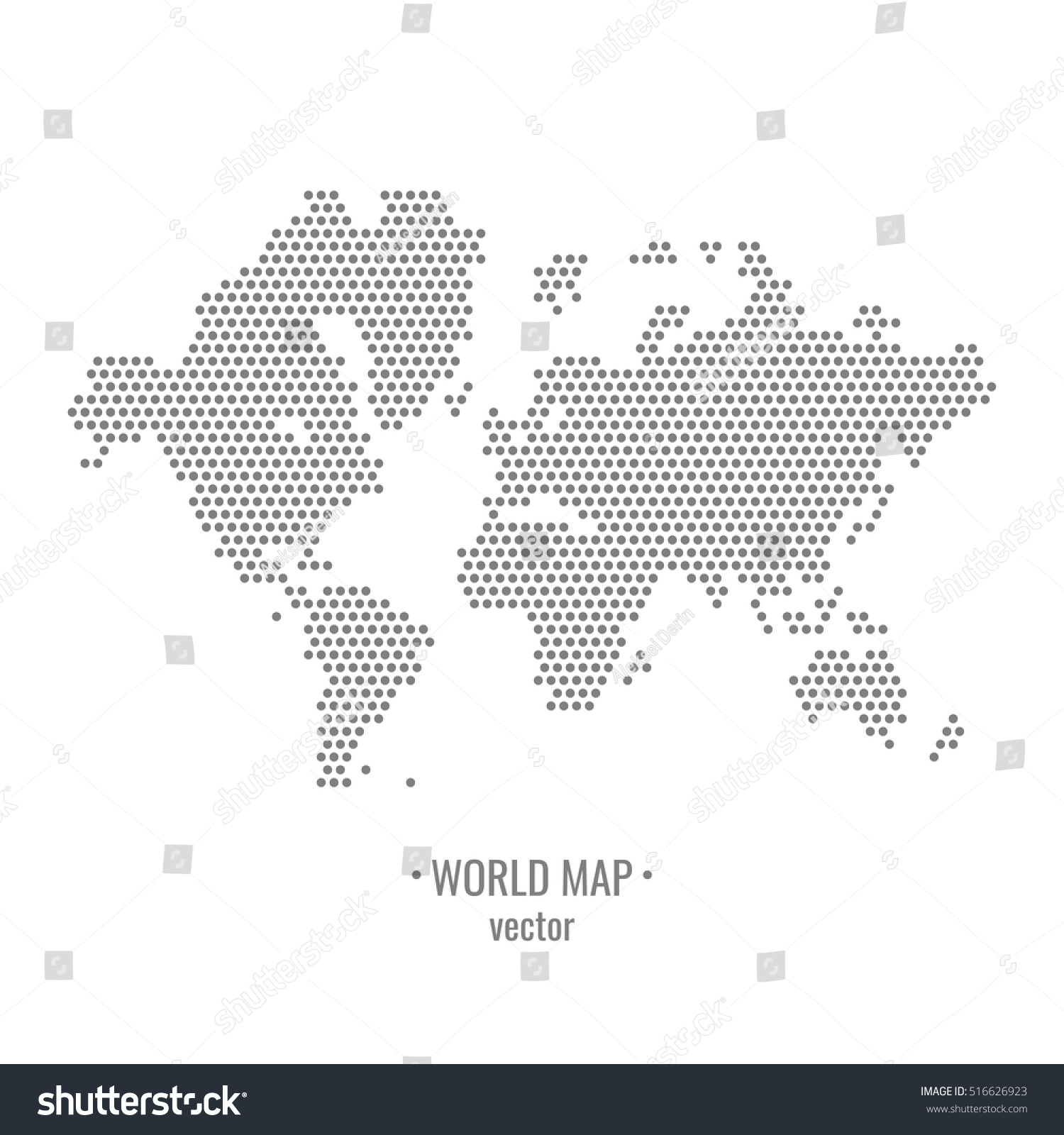 Dotted World Map Drawing All Continents Stock Vector (Royalty Free ...