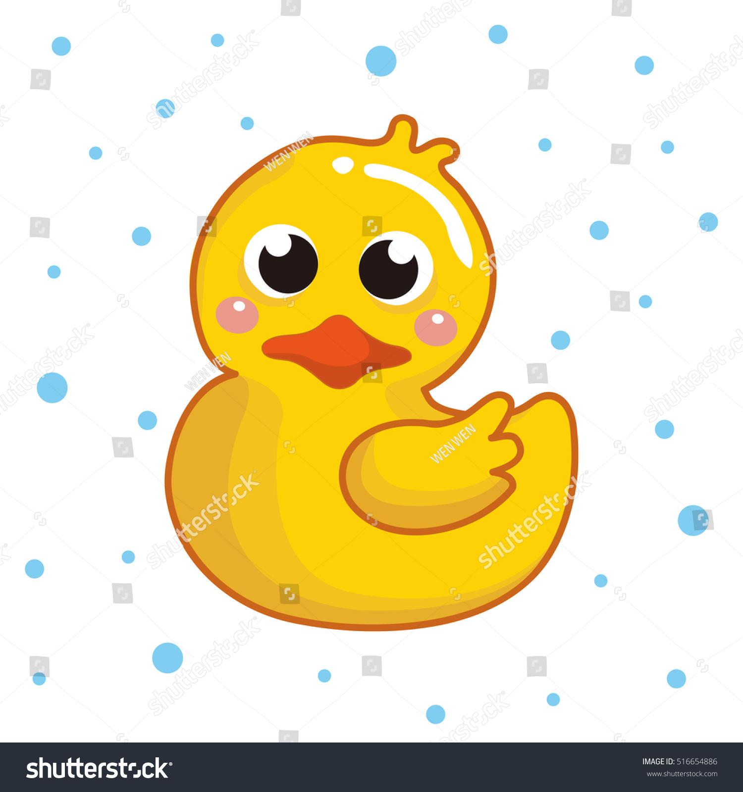 Rubber Duck Ducky Bath Toy Flat Stock Vector Shutterstock
